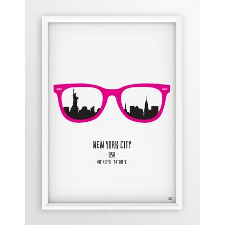Plakat NOWY YORK - okulary