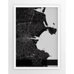 Mapa plakat DUBLIN- linia BLACK