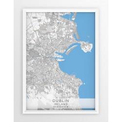 Mapa plakat DUBLIN- linia BLUE/GRAY