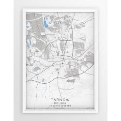 Mapa plakat TARNÓW - linia BLUE/GRAY