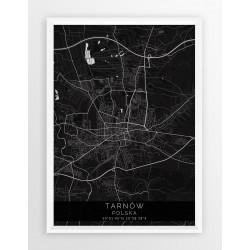 Mapa plakat TARNÓW - linia BLACK