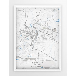 Mapa plakat LEGNICA- linia BLUE/GRAY