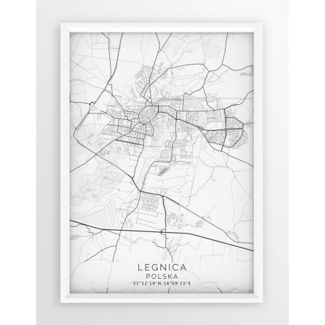 Mapa plakat LEGNICA - linia WHITE