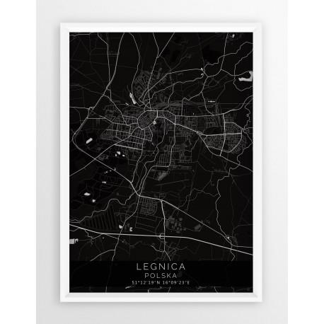 Mapa plakat LEGNICA - linia BLACK