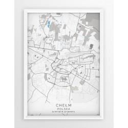 Mapa plakat CHEŁM - linia BLUE/GRAY