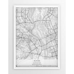 Mapa plakat KIJÓW- linia WHITE