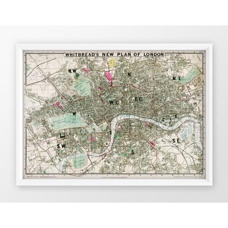 Stara mapa/plan LONDYN (1862r) - reprint