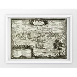 Stara mapa/plan SZCZECIN (1696r) - reprint