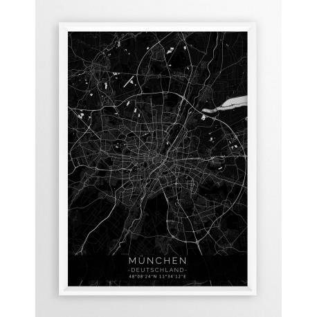 Plakat, mapa MONACHIUM - linia BLACK
