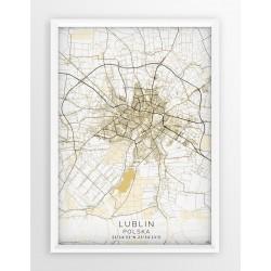 Plakat mapa LUBLIN - linia BEIGE