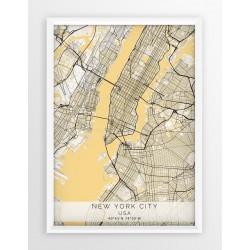 Plakat mapa NOWY JORK- linia BLUE/GRAY