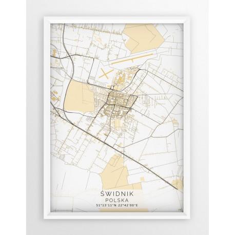 Plakat mapa ŚWIDNIK - linia BEIGE