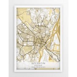 Plakat mapa SZCZECIN - linia BEIGE