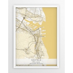 Plakat mapa GDYNIA - linia BEIGE