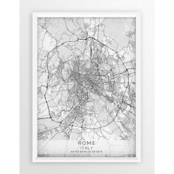 Plakat mapa RZYM - linia WHITE