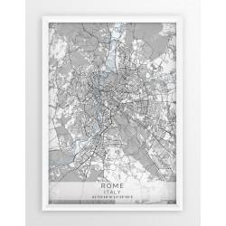 Mapa plakat RZYM- linia BLUE/GRAY