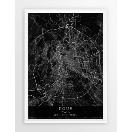 Plakat mapa RZYM - linia BLACK