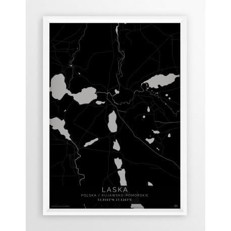Plakat mapa LASKA - linia BLACK