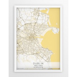 Plakat mapa DUBLIN- linia BEIGE