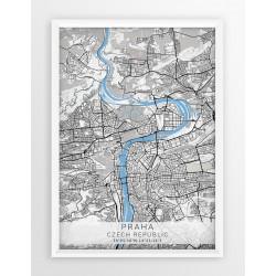 Plakat mapa PRAGA - linia BLUE/GRAY