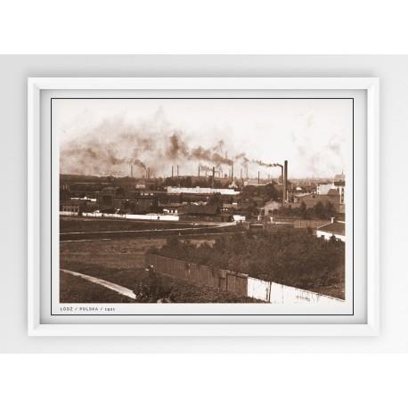 Plakat fotografia - ŁÓDŹ / 1921r