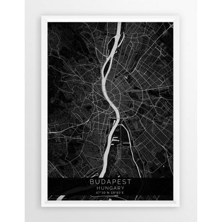 Plakat mapa BUDAPESZT - linia BLACK