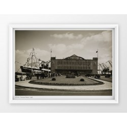 Plakat fotografia - GDYNIA / DWORZEC MORSKI/ 1935r