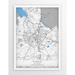 Plakat, mapa RYBNIK - linia BLUE/GRAY