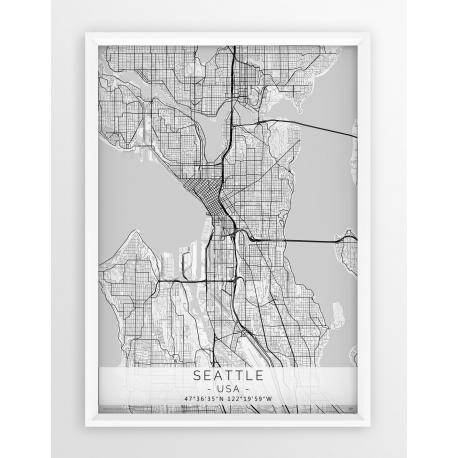 Plakat mapa SEATTLE - linia WHITE