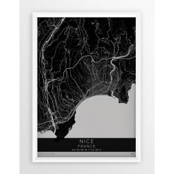 Mapa plakat NICEA - linia BLACK
