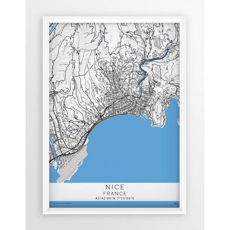 Plakat mapa NICEA - linia BLUE/GRAY