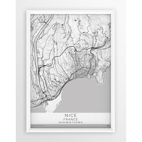 Plakat mapa NICEA - linia WHITE