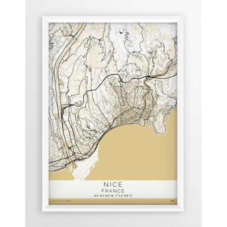 Plakat mapa NICEA - linia BEIGE