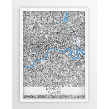 Plakat mapa LONDYN - linia BLUE/GRAY
