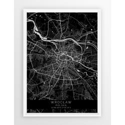 Mapa plakat WROCŁAW - linia BLACK
