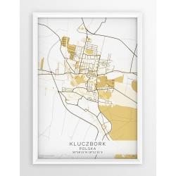 Plakat mapa KLUCZBORK - linia BEIGE