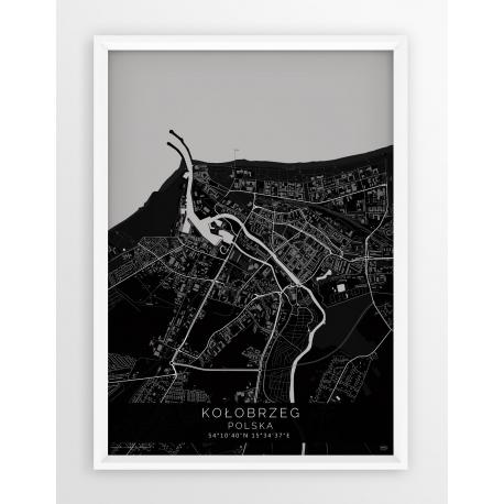 Plakat mapa KOŁOBRZEG - linia BLACK