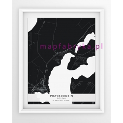 Plakat, mapa PRZYBRODZIN - linia BLACK