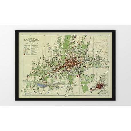 Stara mapa/plan TARNÓW (1930r) - reprint