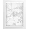 Plakat mapa ŁASK - linia WHITE