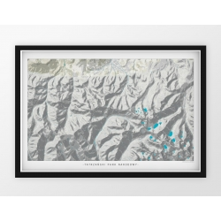 Plakat mapa TATRZAŃSKI PARK NARODOWY