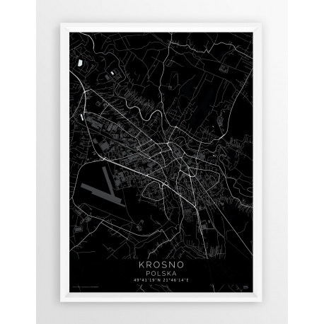 Mapa plakat KROSNO - linia BLACK