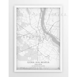 Plakat mapa GÓRA KALWARIA - linia WHITE