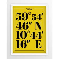Plakat typograficzny OSLO - linia YELLOW