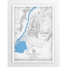 Plakat, mapa TARNOBRZEG - linia BLUE/GRAY