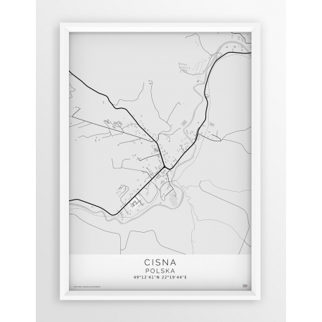 Plakat mapa CISNA - linia WHITE