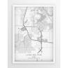 Plakat mapa LAKE DELTON - linia WHITE
