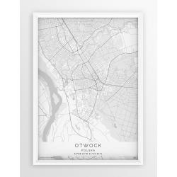 Plakat mapa OTWOCK - linia WHITE