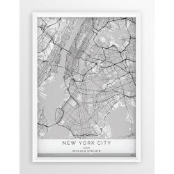 Mapa plakat NOWY JORK- linia WHITE