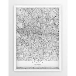 Plakat mapa LONDYN - linia WHITE